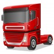 Big red truck vector illustration — Stock Vector #55511723