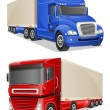 Big blue and red trucks vector illustration — Stock Vector #55511879
