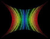 Ilustração em vetor abstrato multicolorido equalizador gráfico — Vetor de Stock