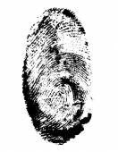 Fingerprint black vector illustration — Vector de stock
