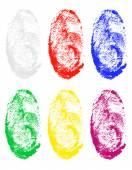 Fingerprint of different colors vector illustration — Stock Vector
