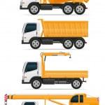 Set icons trucks designed for construction vector illustration — Stock Vector #58038559