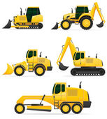 Car equipment for construction work vector illustration — Stock Vector