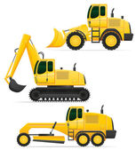Car equipment for road works vector illustration — Stock Vector