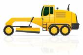Grader for road works vector illustration — Stock Vector