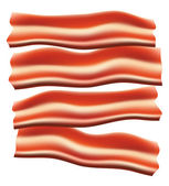 Pieces of fried bacon vector illustration — Stock Vector