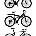 Set icons sports bikes black silhouette vector illustration — Stock Vector #69321679