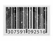 Abstract barcode vector illustration — Stock Vector