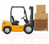 Forklift truck vector illustration — Stock Vector