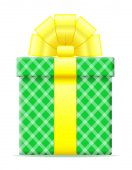 Gift box with a bow vector illustration — Stock Vector