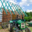 Building a roof in the countryside — Stock Photo #66121889