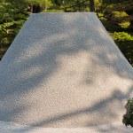 Karesansui in the Japanese garden of Ginkakuji Temple, Kyoto. — Stock Photo