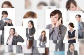 Business people wall — Stock Photo