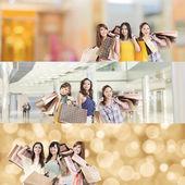 Asian woman shopping — Stock Photo