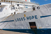 Logos Hope docked at the Keelung — Stock Photo
