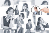 Concept of human resources — Stockfoto