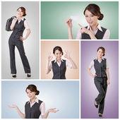 Asijské obchodní žena — Stock fotografie