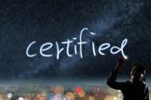 Concept of certified — Stock Photo