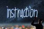 Concept of instruction — Stock Photo