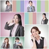 Business woman talk — Stock Photo