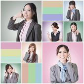 Conversa de mulher de negócios — Foto Stock
