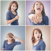 Asyalı kadın yüzü — Stok fotoğraf