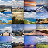 Landscape collection of Taiwan — Stock Photo