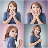 Asian woman face — Stock Photo