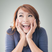 Excited happy Asian girl — Foto de Stock