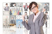Cheerful Asian business woman — Stock Photo