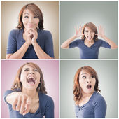 Asian woman face — Stock Photo