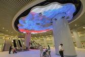 Dramatic Crystal-LED light Lobby — Stock Photo