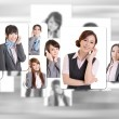 Business people wall — Stock Photo #61308445