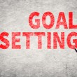 Text on wall, Goal Setting — Stock Photo #62055511
