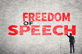 Text on wall, Freedom of Speech — Стоковое фото