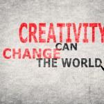 Creativity Can Change The World — Stock Photo #62063529