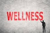 Text on wall, Wellness — Stock Photo