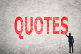 Text on wall, Quotes  — Stock Photo