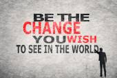 Be The Change You Wish to See in the World — Φωτογραφία Αρχείου
