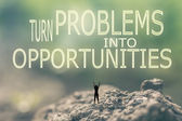 Turn Problems into Opportunities — Stock Photo