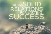 Building Solid Relations For Lasting Success — Stock Photo