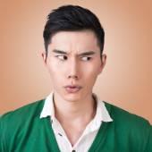 Funny facial expression — Stock Photo