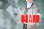 Concept of brand — Stock Photo