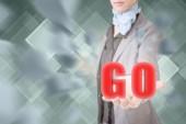 Concept of go — Stock Photo