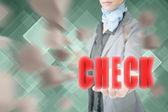 Concept of check — Stock Photo