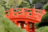 Red bridge — Stock Photo
