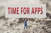 Time for apps — Stock Photo