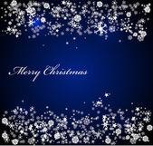 Vector Christmas blue background — Stock Vector