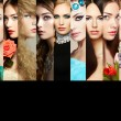 Beauty collage. Faces of women — Stock Photo