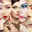 Beauty collage. Faces of women — Stock Photo #64837325